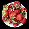 접시에 딸기 | Stock Foto