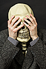 ID 3148781 | Skeleton covering his eyes | High resolution stock photo | CLIPARTO