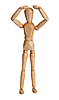 Wooden toy person | Stock Foto