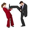 男人穿女人踢 | 免版税照片