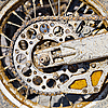 Photo 300 DPI: Rear wheel of motorcycle with chain
