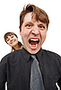 ID 3149730   Man in rage and shouted loudly. Woman happy   High resolution stock photo   CLIPARTO