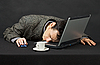 ID 3149987 | Guy worked at night in Internet has fallen asleep | High resolution stock photo | CLIPARTO