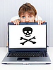 ID 3152633 | Woman can not work - problem with pirate software | 높은 해상도 사진 | CLIPARTO