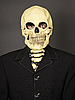 Photo 300 DPI: Portrait of man in mask of death