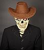ID 3152733 | Man - skeleton in leather cowboy hat | Foto stockowe wysokiej rozdzielczości | KLIPARTO