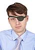 Porträt des Mannes mit einzelem Auge | Stock Foto