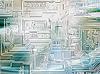 빛이 빛나는 및 회로 보드 배경의 광선 | Stock Illustration