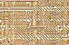 金色的电路板 | 光栅插图
