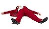 女子倒卧 | 免版税照片