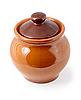 Emaliowania garnek ceramiczny | Stock Foto