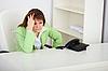 ID 3156524 | Sad girl secretary waits for phone call | High resolution stock photo | CLIPARTO
