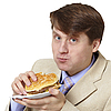 年轻的商人是晚餐 | 免版税照片