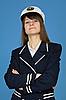 Portret kobiety dumnej - kapitan | Stock Foto