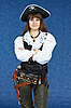 ID 3156646   Woman - sea pirate on blue with pistol   High resolution stock photo   CLIPARTO