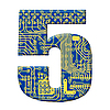 전자 회로 기판의 자리 | Stock Illustration