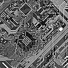 Фото 300 DPI: Печатные монохромных промышленных текстура плате