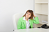ID 3159678   Beautiful girl at office on workplace   High resolution stock photo   CLIPARTO