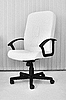 Photo 300 DPI: Big white office leather armchair for chief