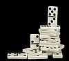 堆白色的多米诺骨牌 | 免版税照片