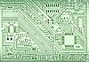 高新技术产业的电子背景   光栅插图