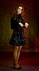 블랙에서 아름 다운 여자   Stock Foto