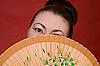 팬 일본 소녀 | Stock Foto