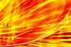빨간 불 추상 - 노란색 배경 | Stock Illustration
