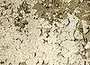 Vieja pintura dañada en la pared de hormigón - sepia | Foto de stock