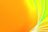 摘要梦幻般的橙色和绿色 | 光栅插图