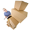 ID 3172743 | Man and pile cardboard boxes | High resolution stock photo | CLIPARTO