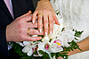 Hands with wedding rings | Stock Foto