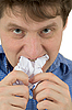 The man chewing sheet of paper | Stock Foto