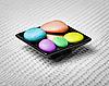 Color pebbles in bowl - spa | Stock Foto