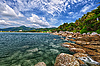 热带景观 - 泰国,普吉岛卡伦海滩, | 免版税照片
