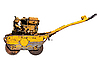 Photo 300 DPI: Old mini road roller for laying asphalt