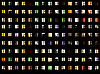 Photo 300 DPI: Seamless texture - night windows