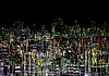 Abstract graphic composition - night metropolis | Stock Illustration