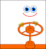 Vector clipart: Creature blocks gas by means of valve