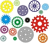 Set of gears different in form