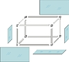 Vector clipart: Drawing of self-made metal aquarium