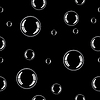 Vector clipart: Seamless texture - Bubbles on black