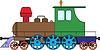 Vector clipart: Locomotive - color