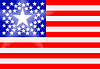 Vector clipart: Conceptual drawing of American flag with principal