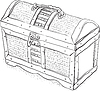 Vector clipart: Wooden pirate chest -