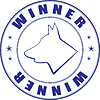 Vector clipart: sketch of stamp for certificate of canine club