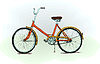 Old-fashioned bicycle -
