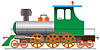 Vector clipart: Steam locomotive - eps
