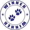 Vector clipart: Stamp - winner of pet exhibition