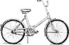 Vector clipart: Old bicycle - eps